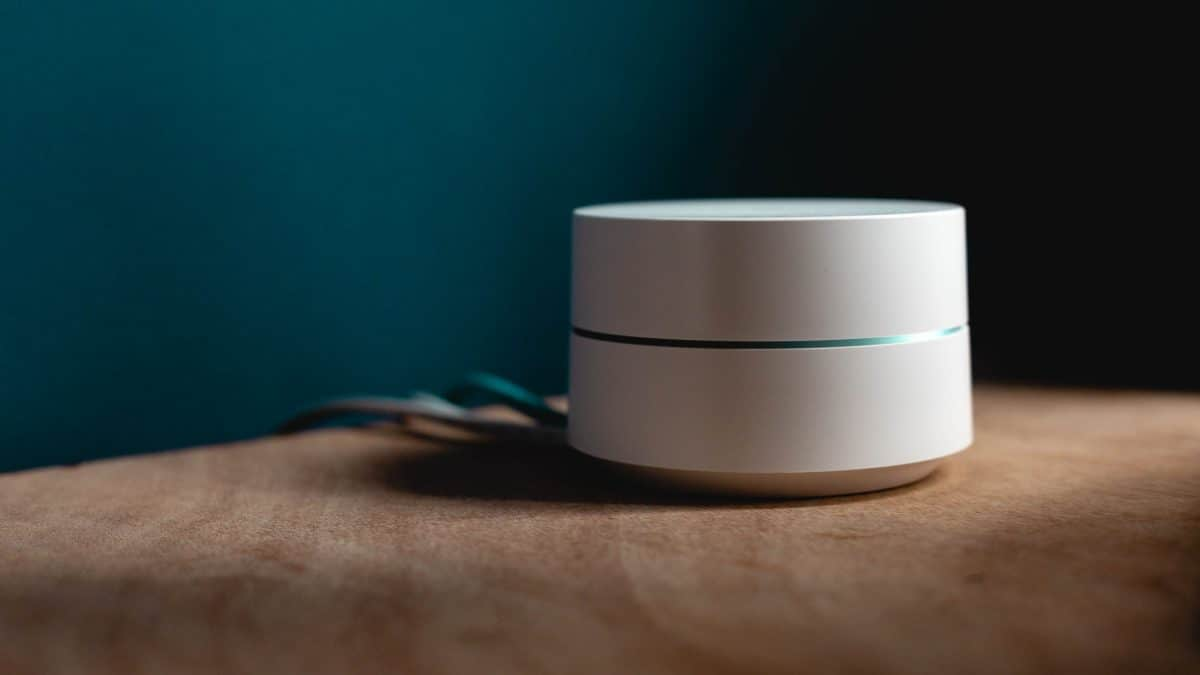 Google WiFi System placed on a table