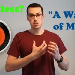 "YouTube thumbnail showing Tristan, a Nest thermostat and the text ""Pointless?"" and ""A waste of money""."
