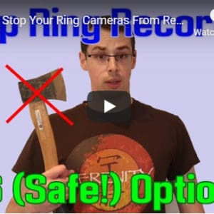 YouTube thumbnail for my 'Stop Ring recording' video