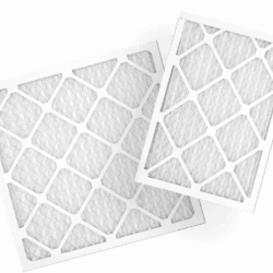 Marketing image showing two ecobee air filters.