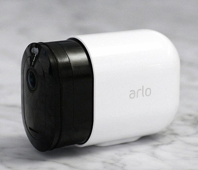 Marketing image showing the body of the Arlo Pro 3 camera