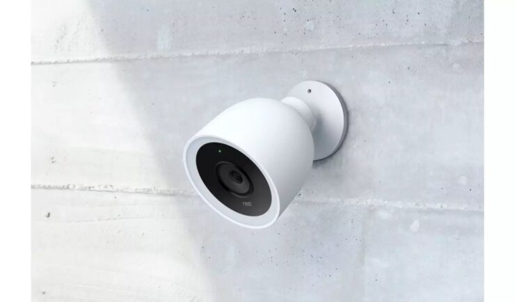 Marketing image of the Google Nest Cam IQ Outdoor.