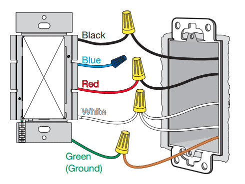 Lutron Caseta wiring diagram with a neutral wire