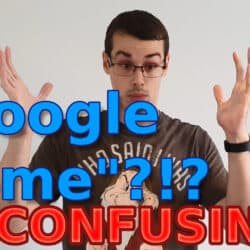 "YouTube thumbnail showing me looking confused, and the text ""Google Home = CONFUSING!"" on it."