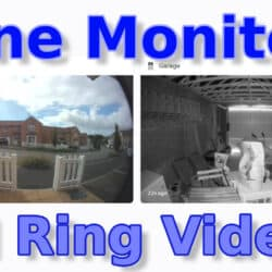 "YouTube thumbnail for my ""watching all your Ring feeds in 1 monitor"" video."