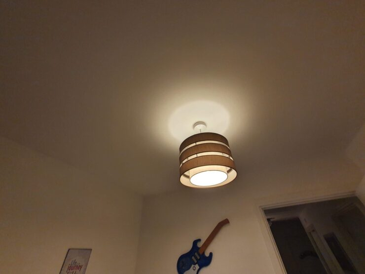 The overhead light in my current home office
