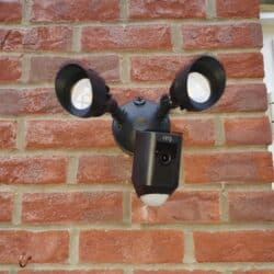 Ring Floodlight Cam wall mounted - front view