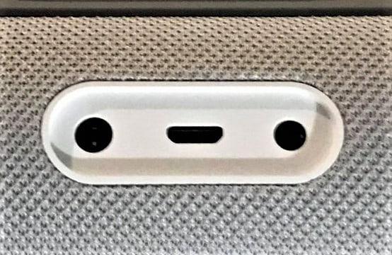 Echo Show audio port at bottom