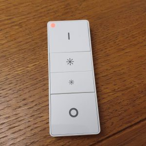 Philips Hue dimmer switch showing a red (error) light