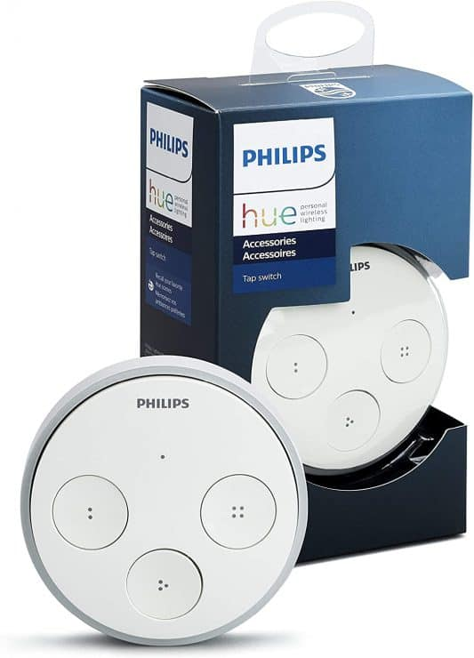 Marketing image of the Philips Hue tap switch button