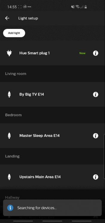 Finding a new Hue Smart Plug within the Hue app