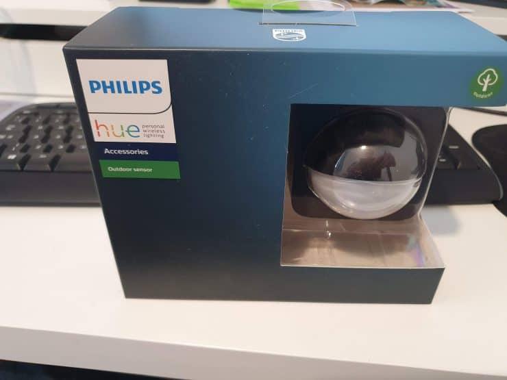 A Philips Hue Outdoor Motion Sensor