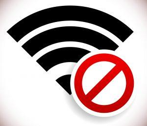 WiFi faulty error sign