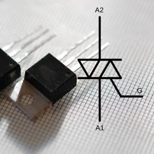 Triac dimmer components and the Triac electrical diagram