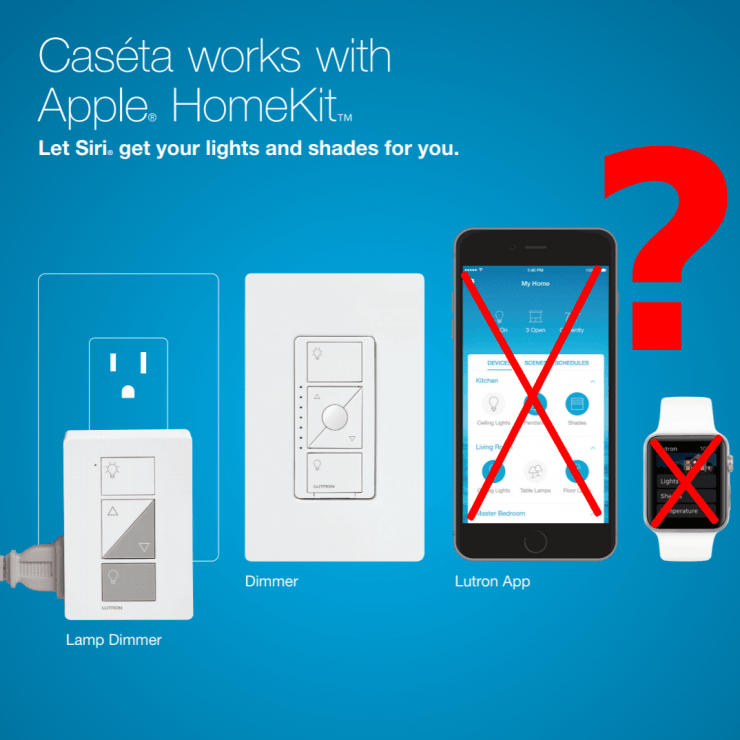 Caseta and HomeKit support but with some errors when trying to control the two