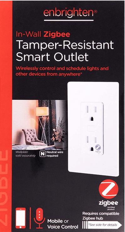 The Enbrighten ZigBee Smart Outlet Receptacle