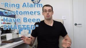 Ring Protect plan YouTube video thumbnail with the text Ring Alarm Customers Have Been SHAFTED