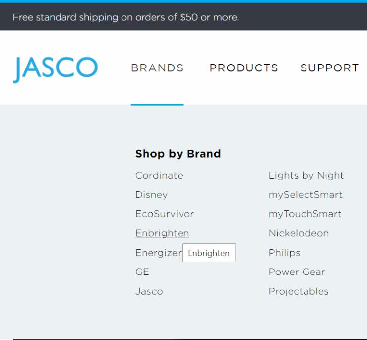 The Jasco website mentions GE Enbrighten